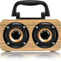 Walrus Boombox Wireless Speaker With Upto 10-Hour Playing Time, Fm Radio, Built-In Mic, Handsfree Call, Aux Line, Usb Flash Drive, Micro Sd Card, Hd Stereo Sound And Bass 12 W Bluetooth Laptop/Desktop Speaker(Brown, Mono Channel)