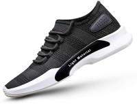 MILESWALKER Mesh Running Shoes ,Cricket Shoes Running Shoes For Men (Black) Running Shoes For Men(Black)
