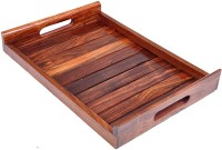 MODERNCOLLECTION HANDICRAFT Rosewood Sheesham Wood Handmade & Handcrafted Wooden Serving Tray Tray(Tray)
