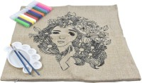 R H lifestyle DIY Hand-Painted Graffiti Pillow Cover Coloring Painting Kit - Arts and Crafts for Kids, Adults Decorative Cushion Cool Home Car Sofa with Color Kit Pack of 1 (Size : 45 x 45 cm)