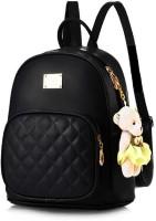 SAHAL GIRLS PU Leather Backpack 10 L Backpack(Black)