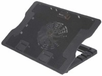 RAJESWARI E-STORES Fan Cooling Pad For Laptop With Adjustable Height 1 Fan Cooling Pad(Black)