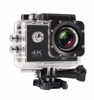 QUEZIL 1080 Ultra HD Water Resistant Sports Action Camera Ultra Wide-Angle Lens with 2 Inch Display & Full Accessories (16 MP) Sports and Action Camera(Black, 16 MP)