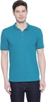 Byford by Pantaloons Solid Men Polo Neck Light Green T-Shirt