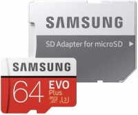 Samsung EVO Class 10 64 GB SD Card Class 10 100 MB/s  Memory Card(With Adapter)