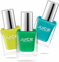 Juice Nail Paint Combo 4 Bumblebee Yellow - 40, Light Pine Green - 72, Robin Blue - 282