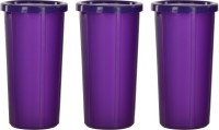 Cutting EDGE Spill Proof Tumbler, 350 ML, Set of 3 - Tropical Purple  - 350 ml Polypropylene Grocery Container(Pack of 3, Pink)