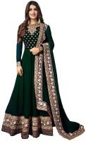 Urchit Enterprise Embroidered Green Anarkali Kurta, Bottom & Dupatta Set (Pack Of )