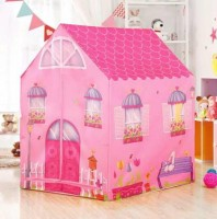 LIMBAKSHIT Jumbo Size Extremely Light Weight , Water & Fire Proof Doll House Tent for Kids(Pink)