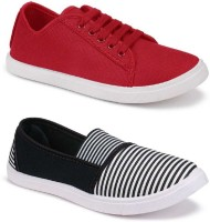 World Wear Footwear Combo Pack of 2 Stylish Casual Shoes For Women
