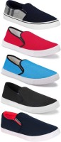 World Wear Footwear Combo Pack of 5 Stylish Casual Shoes For Men