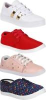 World Wear Footwear Multicolor Combo Pack of 4 Sneakers Shoes For Women