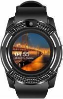 Roboster V8 Bluetooth Watch Phone Camera 3G,4G Black Smartwatch(Black Strap, M)