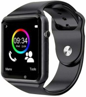 N-WATCH 4G ANDROID CALLING MOBILE WATCH PHONE Smartwatch(Black Strap, free)