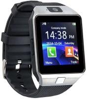 Hari Krishna Enterprise Sim Silver Smartwatch(Black Strap, Regular)
