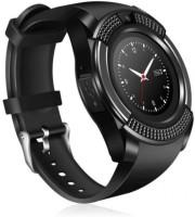 MPA V8 Black CameraWatch,SimSupport & More Black Smartwatch(Black Strap, Free Size)