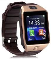 K V ELECTRONICS DZ09 phone Brown Smartwatch(Brown Strap, REGULAR)