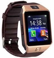 Atina DZ09 phone Smartwatch(Brown Strap, FREE SIZE)