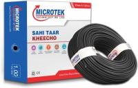 Microtek FR PVC 1 sq/mm Black 90 m Wire(Black)