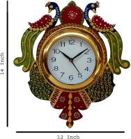 Apnoghar Wall clock Decor Decorative Showpiece  -  35 cm(Wood, Multicolor)