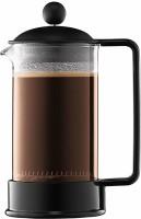 Bodum 1543-01US 3 Cups Coffee Maker(Clear, Black)
