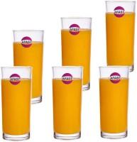 Afast (Pack of 6) Stylish Multi-Purpose Beverage Tumbler Drinking Glass, Set Of 6, 250 ml -KT19 Glass Set(250 ml, Glass)