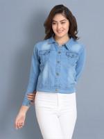 BuyNewTrend Full Sleeve Solid Women Denim Jacket
