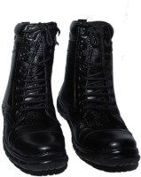 mega star Hiking & Trekking Boat Shoes For Men(Black)