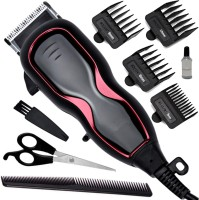 JM Professional Corded Waterproof Electric Beard Mustache Trimmer Hair Clipper  Runtime: 0 min Trimmer for Men(White)