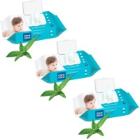 MeeMee Caring Baby Wet Wipes with lid, 72 Pcs (Aloe Vera, Pack of 3)(3 Wipes)