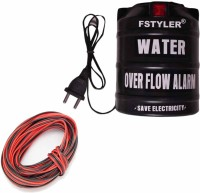 FStyler Water Tank Overflow Alarm with High Quality Voice Sound Overflow & 15mtr Connecting Wire(Made in India)-(Pack of 1) Wired Sensor Security System