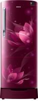 SAMSUNG 212 L Direct Cool Single Door 5 Star Refrigerator(Blooming Saffron Red, RR22N385XR8/HL)