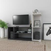 Flipkart Perfect Homes Illuzion Engineered Wood TV Entertainment Unit(Finish Color - Melamine Wenge + White)