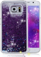 Trendzmy Liquid Flowing Glitter Sparkle Stars Bling Bumper Soft Silicon Transparent Back Cover for Vivo V15 Purple