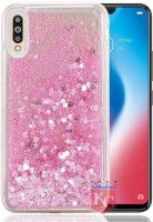 Trendzmy Liquid Flowing Glitter Sparkle Stars Bling Bumper Soft Silicon Transparent Back Cover for Vivo V15 Multi