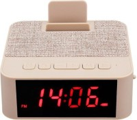 IBS X31 Bluetooth Speaker Wireless Portable Support USB TF Card With Alarm Clock Phone Holder 6 W Bluetooth  Speaker(Beige, Stereo Channel)