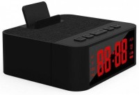 IBS X31 Bluetooth Speaker Wireless Portable Support USB TF Card With Alarm Clock Phone Holder 6 W Bluetooth  Speaker(Black, Stereo Channel)