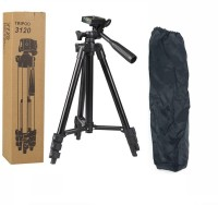 Oxhox 3120 Foldable Camera Tripod with Mobile Clip Holder Bracket, Tripod(Black, Supports Up to 4000 g)
