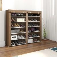 Flipkart Perfect Homes Studio 2 Door Metal Collapsible Shoe Stand(12 Shelves)