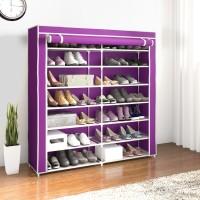 Flipkart Perfect Homes Studio 2 Door Metal Collapsible Shoe Stand(14 Shelves)