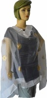 ZGX Tussar Silk, Cotton Blend Self Design Women Dupatta