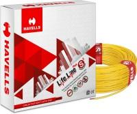 HAVELLS HRFR PVC 6 sq/mm Yellow 90 m Wire(Yellow)