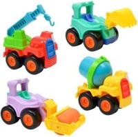 Zooper Unbreakable Automobile Car Toy Set For Children Kids Toys Construction Team Set Of 4(Multicolor)