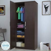 Flipkart Perfect Homes Julian Engineered Wood 2 Door Wardrobe(Finish Color - Espresso)