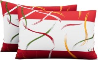 Metro Living Abstract Pillows Cover(Pack of 2, 66 cm*42 cm, Red)