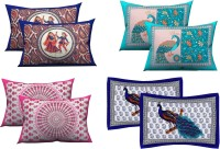 Shubh Living Printed Cushions & Pillows Cover(Pack of 4, 44 cm*66 cm, Multicolor)