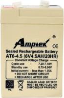 amptek 6V4.5AH RECHARGEABLE BATTERY Flooded Solar Battery(6 V)