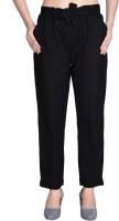 3SIX5 Regular Fit Women Black Trousers