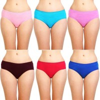 STAR SHINE Women Hipster Multicolor Panty(Pack of 6)