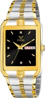 Fogg 2132-BK ION Gold Platted Chain Analog Watch  - For Men